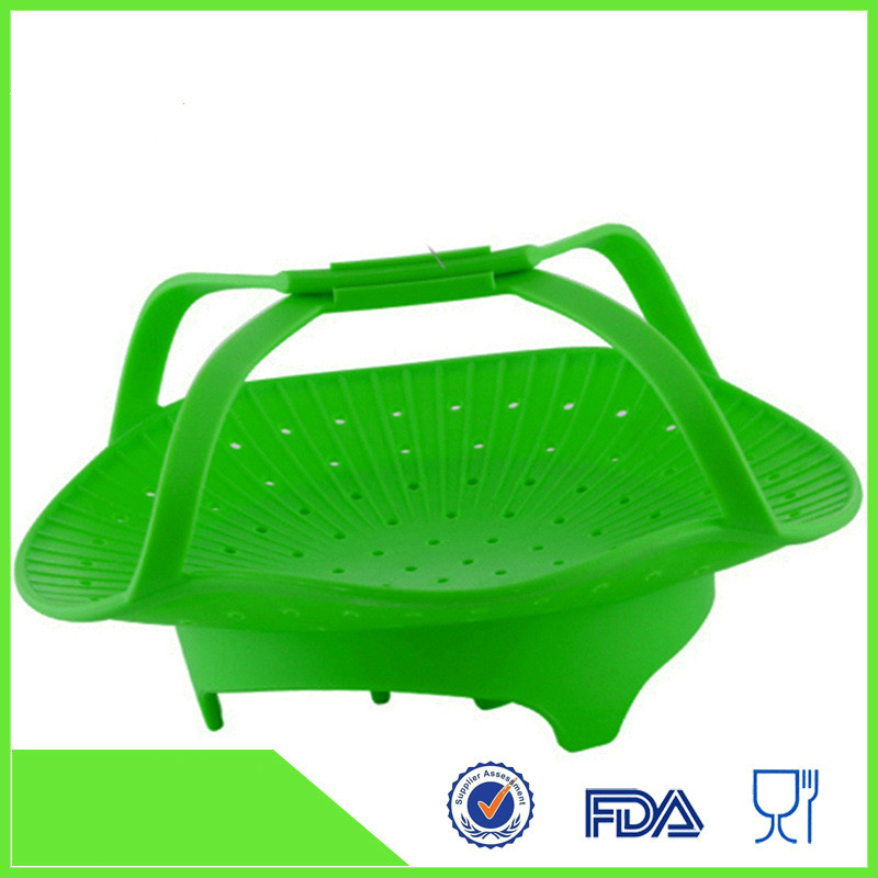 Silicone Vegetable/Food Steamer Basket  Insert For Pots, Pans, Crock Pots & More