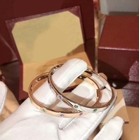 Pure S925 Sterling Silver Colorfu CZ Love Bracelet Bangles Silver/Rose Gold Color Fine Top Quality Fashion Jewelry For Women
