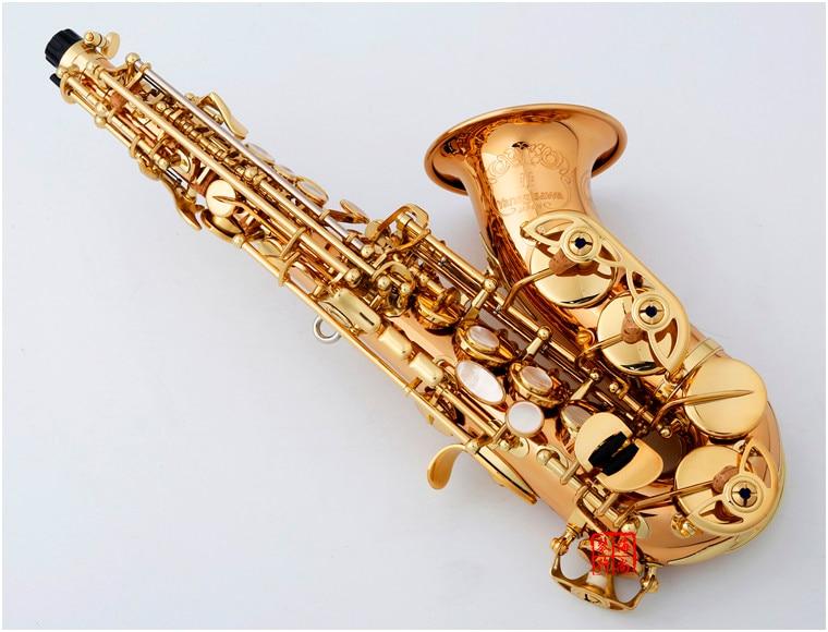 Saxophone Soprano incurvé japon SCW020 or laqué saxo courbé Soprano SC-W020 Instruments de musique professionnel inclus