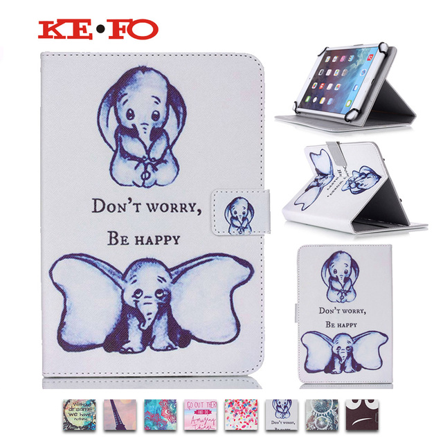 """black eye tower print Universal New Wallet PU Leather Case Protective Stand Flip Cover For 10"""" Inch Android Tablet PC MID Y3d25D"""