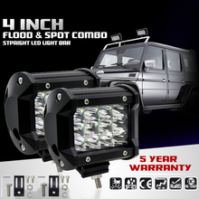 4 Inch Waterproof 36W 5500LM Modified Car Top LED Light with Three Rows Spot light Spotlight Bars for Off-road Car Pickup Wagon