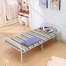 Детская кровать, детская мебель, Металлическая Детская кровать с подсветкой, складная кровать kinderbett moveis, Минималистичная современная кровать 190*80*37 см
