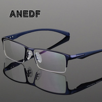 ANEDF TR90 Titanium Alloy Glasses Frame Men Myopia Eye Glass Prescription Eyeglasses 2018 Men Optical Frames Eyewear 065