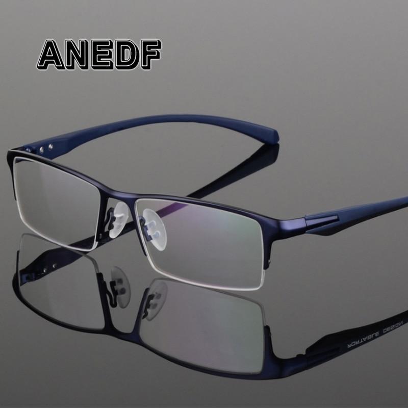 ANEDF TR90 titane alliage lunettes cadre hommes myopie oeil verre Prescription lunettes 2018 hommes optiques montures lunettes 065