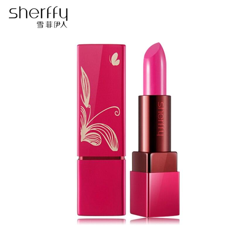 Gincu Bibir Bulu Stain Warna Bibir Ruby Baton Bibir Bibir Panjang - Makeup