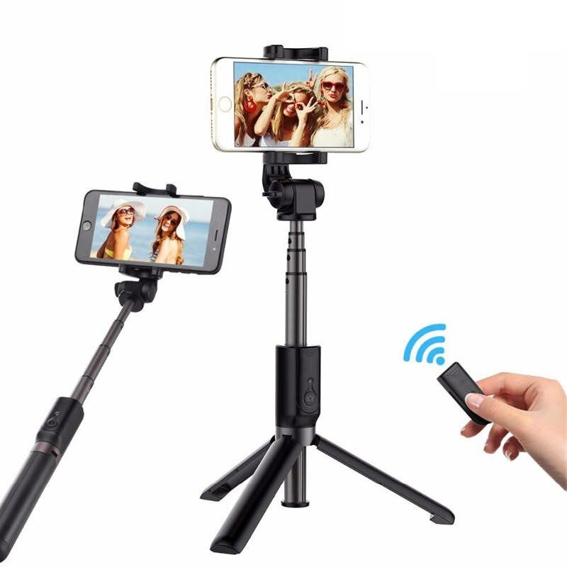 Wrumava Universal Foldable Tripod Selfie Stick Bluetooth Selfiestick With Wireless Shutter Selfie Stick For Xiaomi iPhone