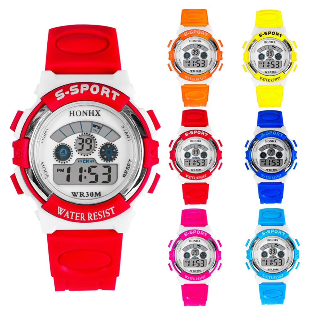 Fashion Children Student watch Girls Boys LED Digital Watch Electronic Multifunction Waterproof Digital Wristwatches Sport Watch children sport watches digital wristwatches for student kids boys girls clock 2018 led electronic watches waterproof kol saati