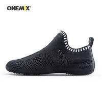 Onemix Man Socks Walking Shoes Men No Glue Jogging Sneakers Indoor Sports Yoga loafers Outdoor Beach Trekking Driving Slippers