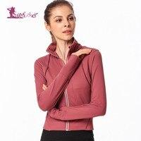Lurehooker Women Running Top Gym Sport Vest Shirts Women Zipper Yoga Clothes Solid Yoga Shirt Fitness Clothing for Female