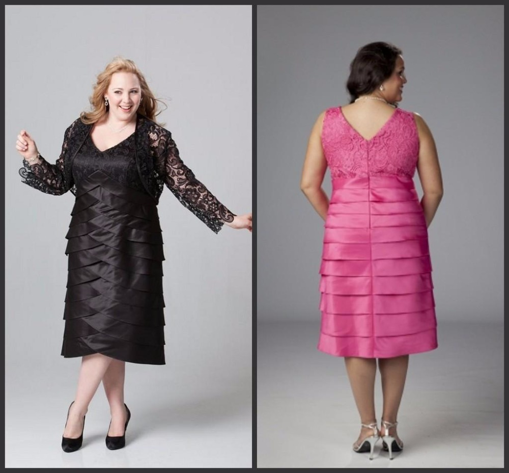 Black Mother of the Bride Dresses Plus Size with Lace font b Jacket b font Organza