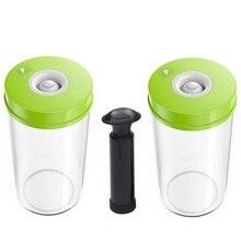 Laimeng 2 진공 용기는 식품 저장을위한 뚜껑이있는 펌프 플라스틱 용기가있는 진공 포장기 용기와 함께 작동합니다. s171