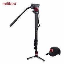 Miliboo MTT705B портативный углерода волокно штатив и монопод для Professional камера видеокамера/видео/штатив для цифровой зеркальной камеры, половина цена Manfrotto