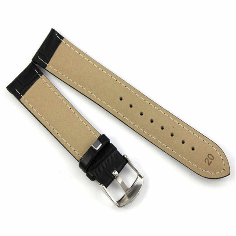 OTOKY 시계 밴드 클래식 컬러 양질 소프트 스웨트 밴드 시계 밴드 버클 18 20 22 가짜 가죽 밴드 스틸 시계 줄