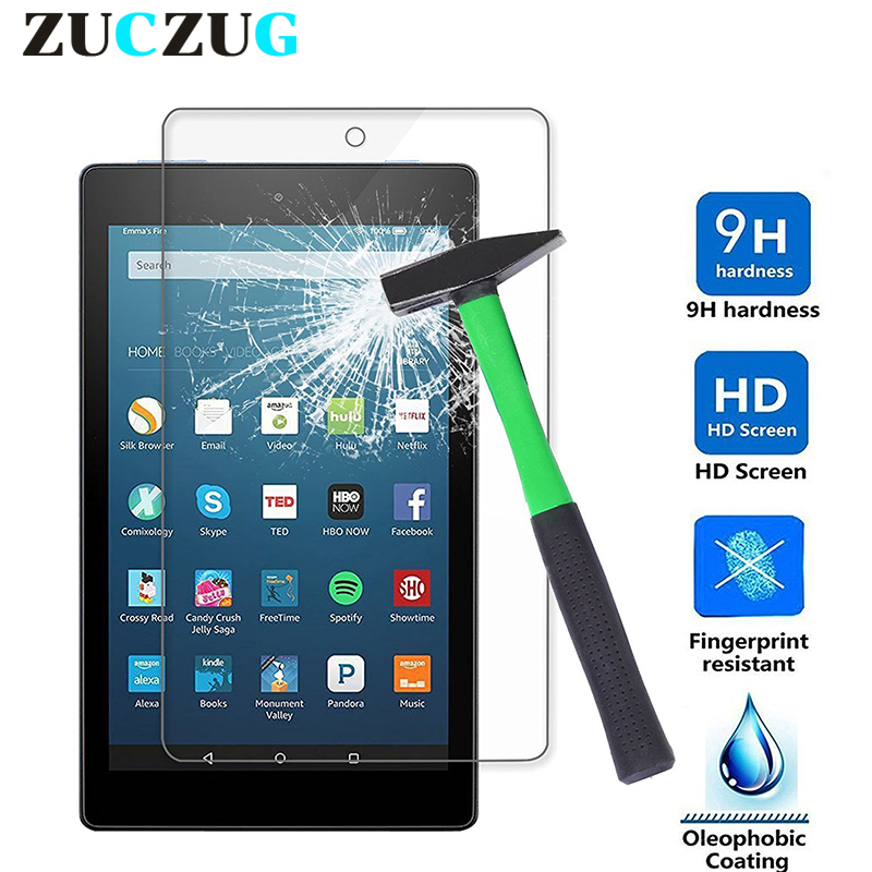 Galleria fotografica 9H screen protector kindle For All-New Amazon Kindle Fire HD 8 Tempered Glass for New Fire HD 8 HD8 2017 Release Protective Film