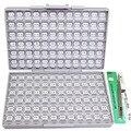 AideTek новый SMD 0603 1% 144 значения резистора Комплект 10 МОм Ассорти 14400 коробка-Все Великобритании корабль этикетки Пластиковые части коробки ...