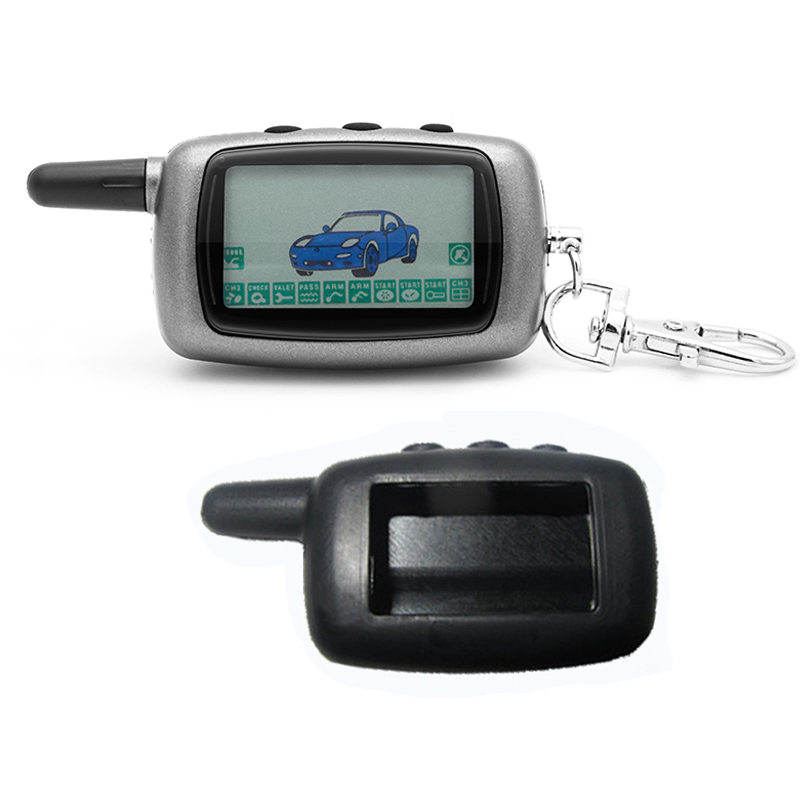 A9 2-way LCD Remote Control KeyChain + A9 Silicone Case For Two Way Car Alarm System Twage Starline A9 Key chain FobA9 2-way LCD Remote Control KeyChain + A9 Silicone Case For Two Way Car Alarm System Twage Starline A9 Key chain Fob