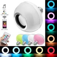 RGB E27 12W LED Light Bulb Wireless Bluetooth Speaker Music Playing Colorful Lamp Bulb Lighting Muis