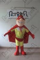 Quality cartoon super hero mascot costumes super man walking actor mask superman costumes