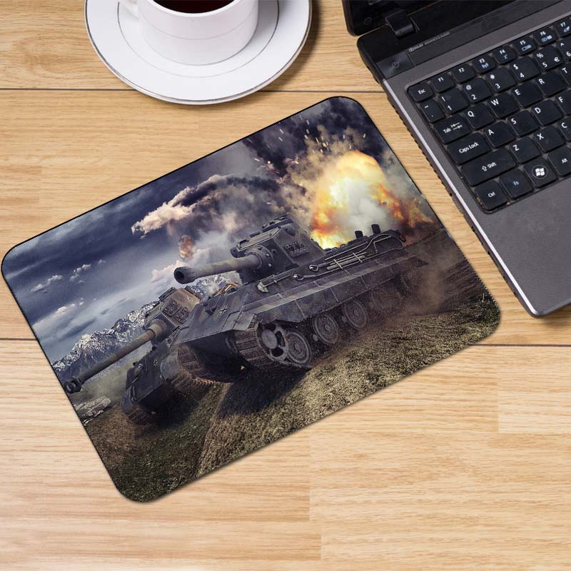 Yuzuoan Top Selling World of Tanks Popular Gaming Rectangle Silicon Durable Mouse Pad Computer Mouse Mat 180X220X2MM 250X290X2M