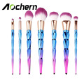 Aochern 7 pcs 2017 New Makeup Brushes Set Foundation Eye shadow Blusher Powder  Blending Make up Brush Kit Purple
