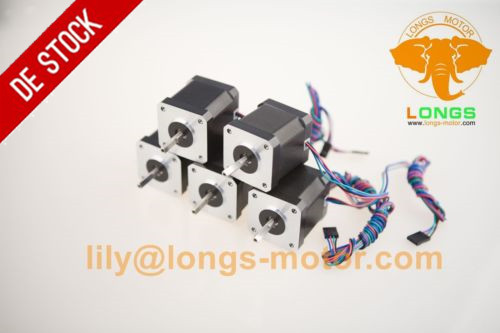 Germany Stock EU Free shipping 42BYGH Stepper Motor 5PCS Nema17 78oz in 1 5A 1m cable