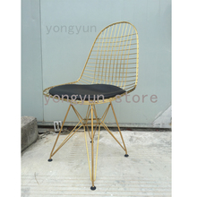Captivating Dining Room Furniture Minimalist Modern Dining Chair Classic Wire Steel  Wire Side Chair Loft Cafe Iron