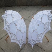 8948db71bd 2018 Ombrello Da Sposa White Lace Parasol Handmade Estate Battenburg Lace  Umbrella Nozze Decorazioni di Nozze Accessori Da Sposa