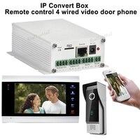 무선 WiFi IP 상자 비디오 도어 폰 초인종 건물 인터콤 시스템 제어 3 그램 4 그램 안드로이드 아이폰 아이 패드 앱 스마트 전화