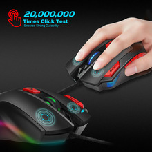 Gaming Mouse USB Wired 9 Buttons 6000DPI Desktop LED Backlight Optical Mice for Gamer XXM8