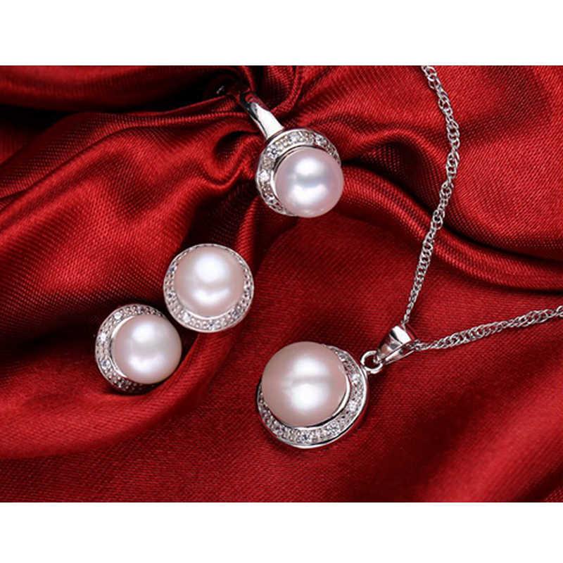 WATTENS Neue Mode Perle der natur set, schmuck sets perle anhänger halskette ring ohrringe für frauen, hochzeit schmuck, Liebe