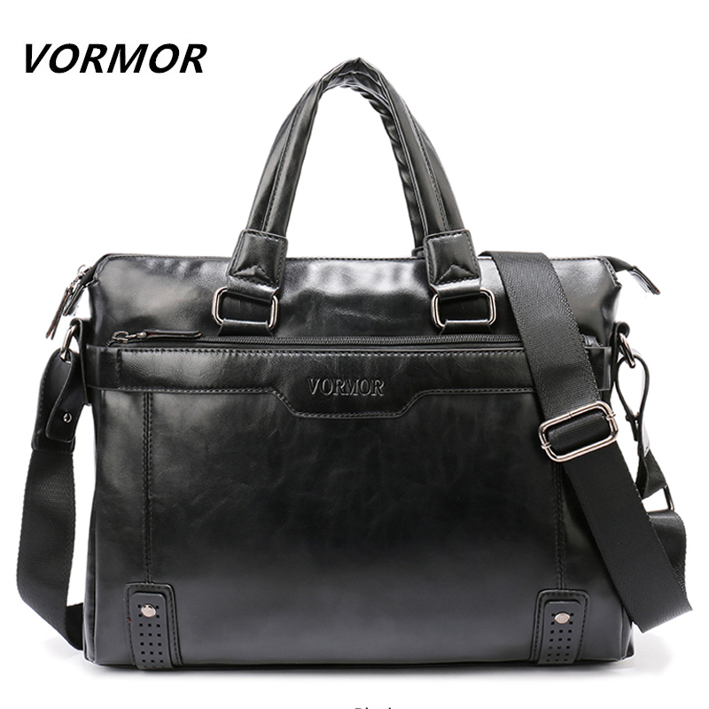 купить VORMOR Brand Elegance Business Men Briefcase Bag, PU Leather 14 inch Laptop Men Bag, Casual Man Shoulder Bags maleta по цене 1956.97 рублей