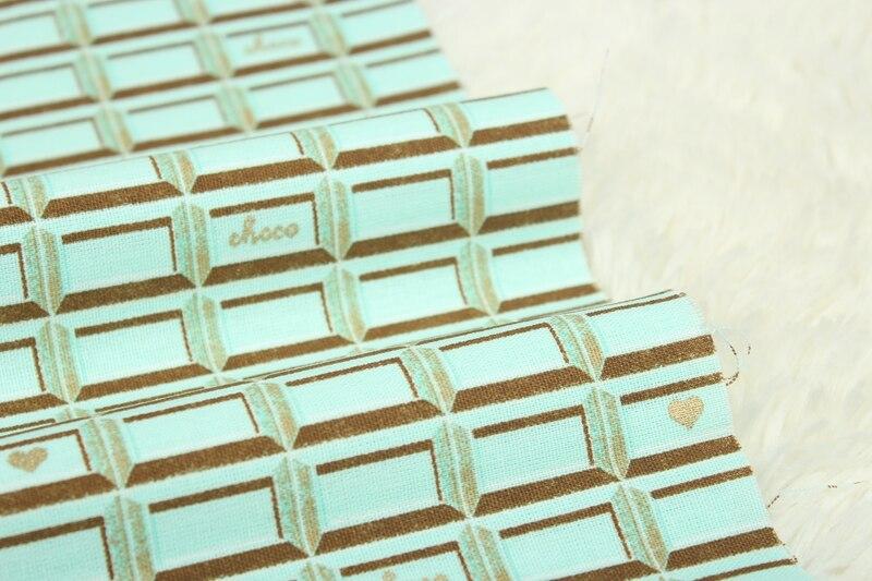 algodão antigo com impressão dourada xadrez geométrica,