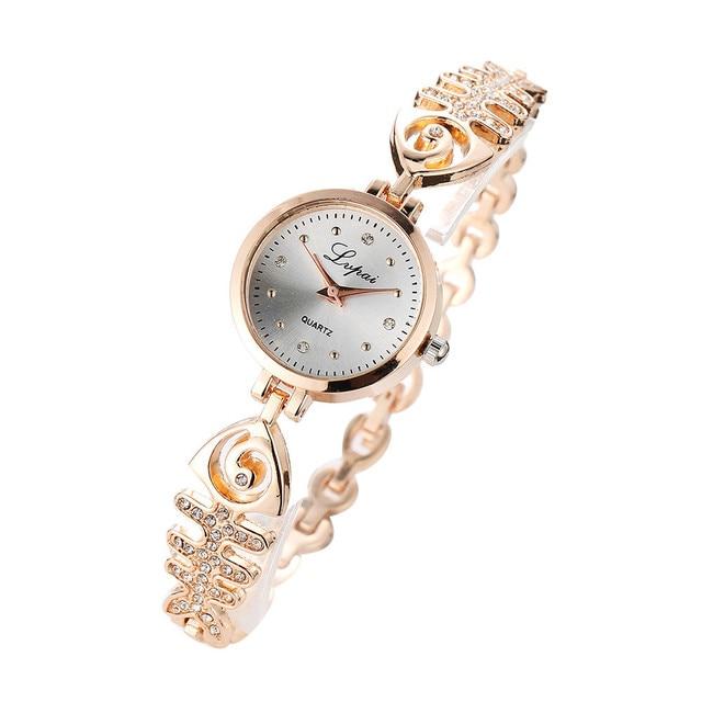 2018 Luxury Rhinestone Bracelet Watch Women Fashion Steel Quartz Watch Ladies Wa