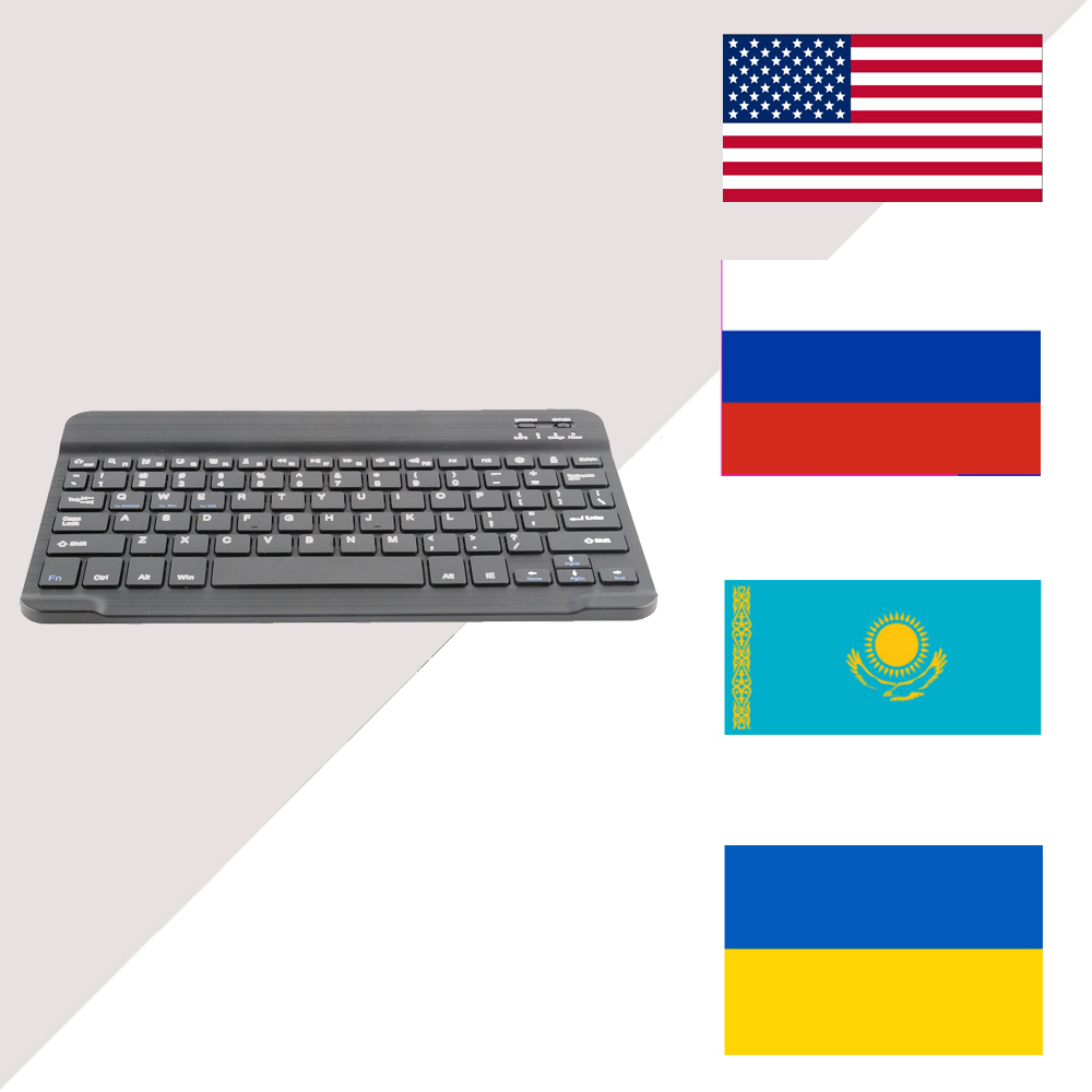 RS Bluetooth Wireless Keyboard Universal 10-inch iPad for Galaxy Tabs IOS Android Tablet/Desktop/Laptop Mini Bluetooth WirelessQ image