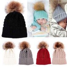 Roztomilá zimní čepice s kulichem pro miminka