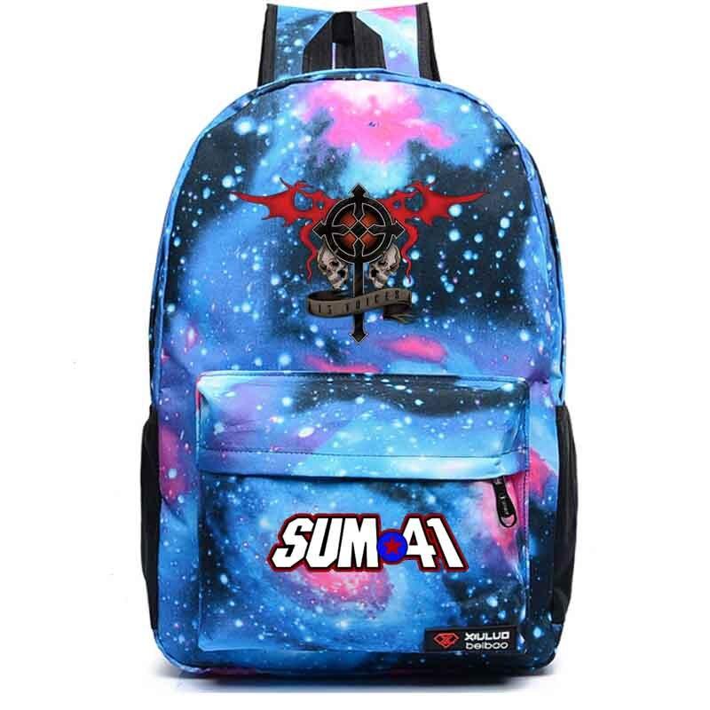 Sum41 метеорный поток рюкзак студент школьная сумка Тетрадь рюкзак ежедневно рюкзак