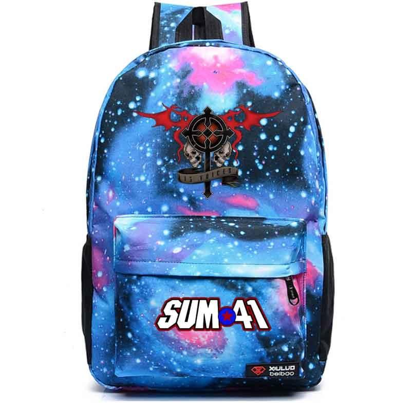 Sum41 Meteor shower backpack student school bag Notebook backpack Daily backpack