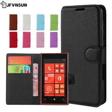 For Nokia Lumia 520 Case on Lumia 520 Cases Flip 4.0 inch Vintage Magnetic Wallet Book Case for Nokia Lumia 520 Cover Phone Bag