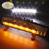 For Ford Edge 2009 2013 2014 Turn Yellow Signal Function Waterproof ABS 12V Car LED DRL