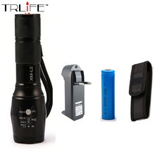E17 LED Flashlight 8000LM Zoomable 3x AAA or 3.7v Battery