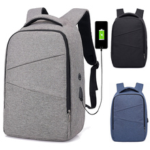 15 15.4 15.6 Inch with USB AUX Interface Nylon Notebook Laptop Backpack Bags Case for Men Women Student