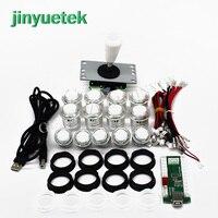 jinyuetek Arcade Joystick DIY Kit Zero Delay Arcade DIY Kit USB Encoder To PC PS3 ps4 Arcade Joystick and Push Buttons