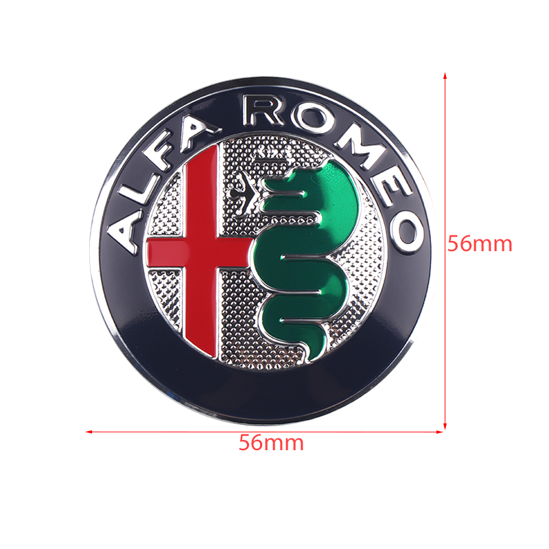 Image 2 - 4pcs 56mm Car Wheel Center Hub Cap Cover Sticker Rim Emblem Badge Fit For Alfa Romeo Giulietta Spider GT Giulia Mito 147 156 159-in Car Stickers from Automobiles & Motorcycles