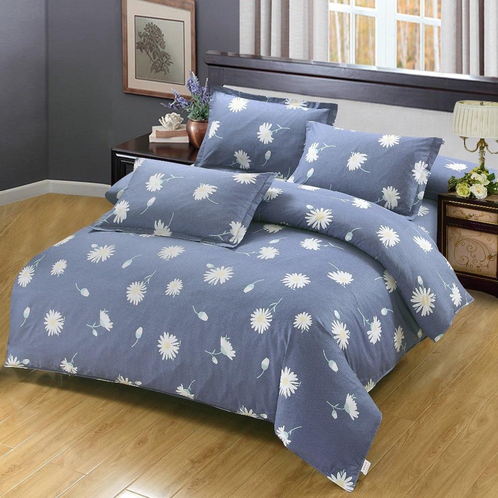 Fashion Dandelion Bedding Imports 4/3pcs Blue Comfortable Bed Sheets Duvet Cover Quilt Cover Bedclothes RU Style Pillow Case