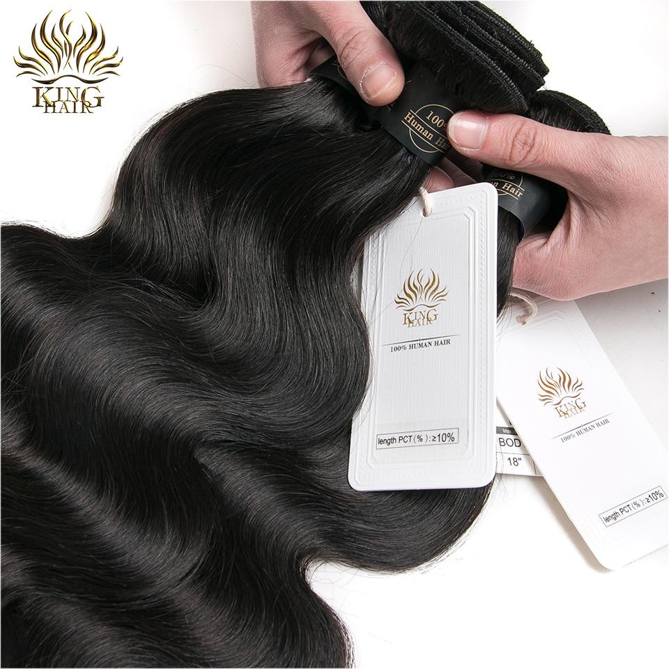 Indijski telesni valovi za tkanje las naravne barve 100% človeški - Človeški lasje (za črne) - Fotografija 4
