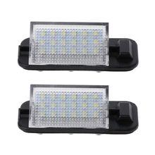 2x White Auto Error Free 3528 SMD 18 LED License Plate Light Lamps For BMW E36 3 Series 1992-1998 318i 320i M3