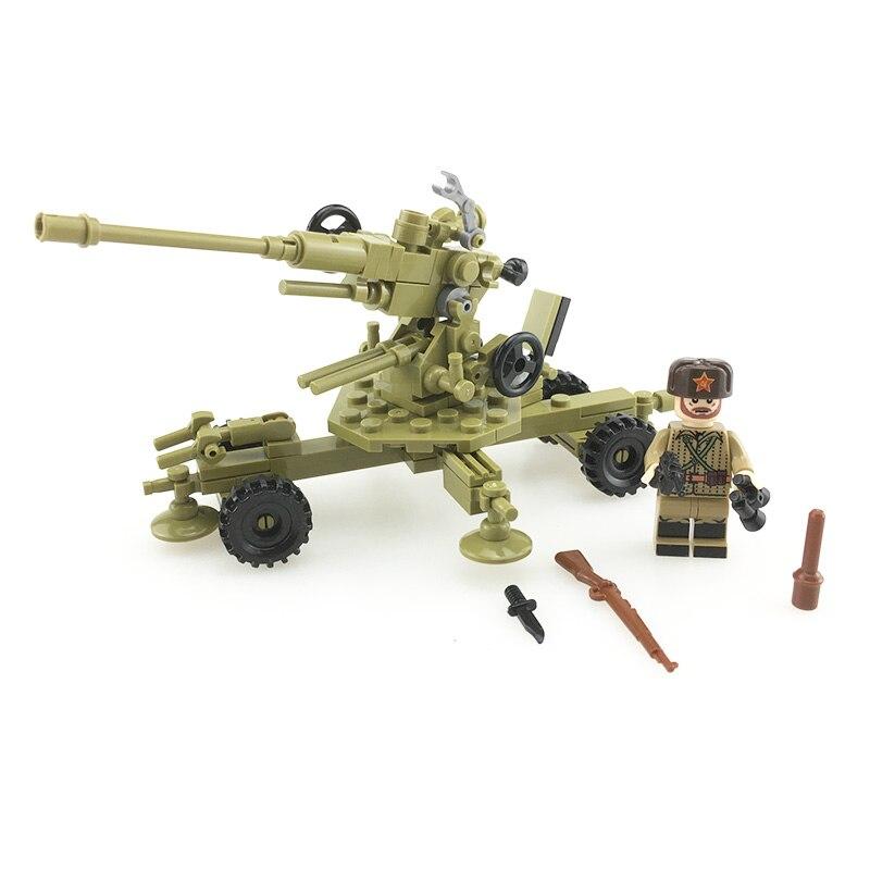 antiaircraft Soviet gun WW2 8