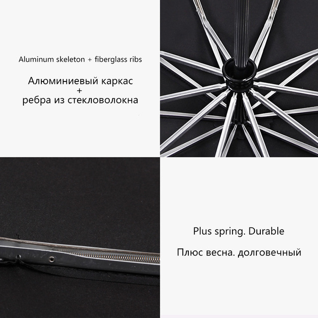 125 CENTIMETRI Antivento Ombrello Automatico Per Gli Uomini di Marca di Grandi Dimensioni Ombrello Pieghevole Pioggia Donna Doppio Biglietti Da Golf Automatico Ombrelloni Auto 4