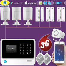 Golden Security DIY G90B Plus+ 3G GSM WCDMA WIFI IOS Android APP Control Home Security Smart House Wired Alarm System цена и фото