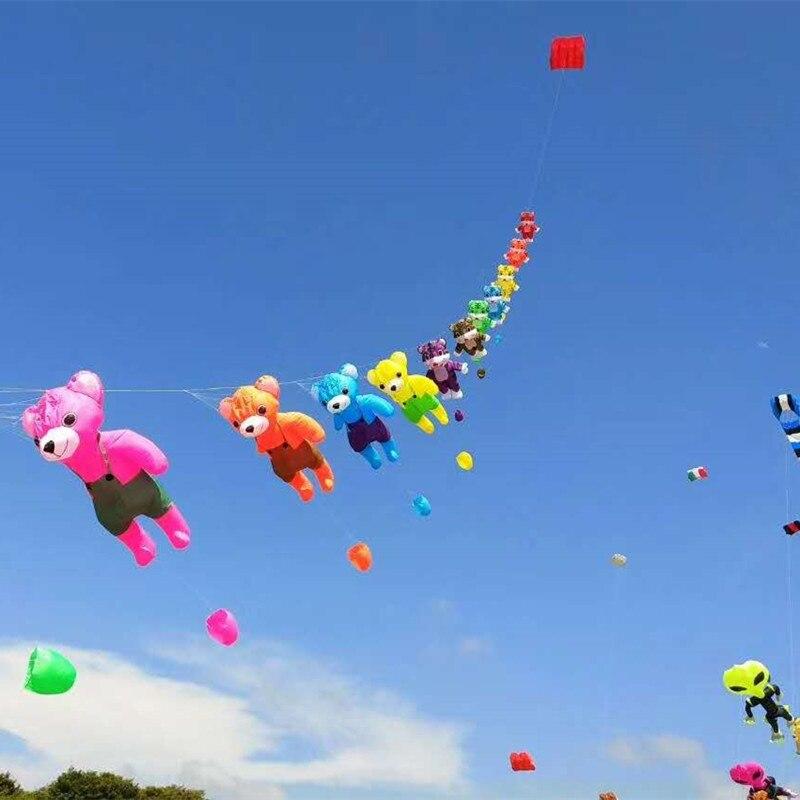 Livraison gratuite de haute qualité grand pendentif ours cerf-volant en nylon jouets de plein air volant doux 3d cerfs-volants pour adultes vent chaussette veleta dragon